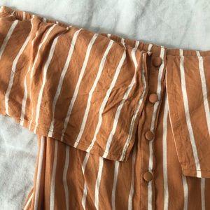 LuLu's striped button-front dress